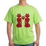 Kitty Love Green T-Shirt