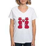 Kitty Love Women's V-Neck T-Shirt