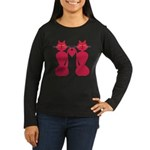 Kitty Love Women's Long Sleeve Dark T-Shirt