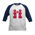 Kitty Love Kids Baseball Jersey