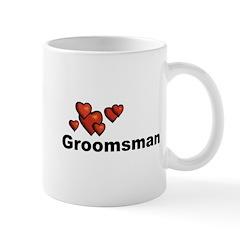 Hearts Groomsman Mug