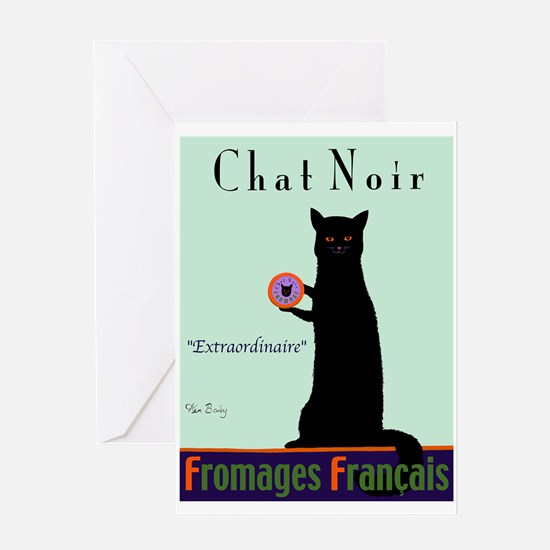 Chat Noir (Black Cat) Greeting Card