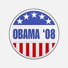 """Obama '08 3.5"""" Button"""