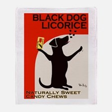 Black Dog Licorice Throw Blanket