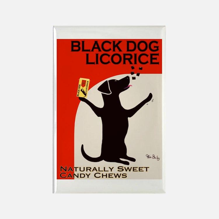 Black Dog Licorice Rectangle Magnet