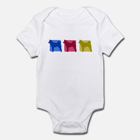 Color Row Akita Baby Bodysuit