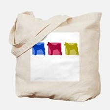 Color Row Akita Tote Bag