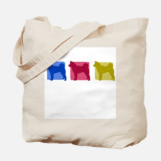 Color Row Akita Tote Bag