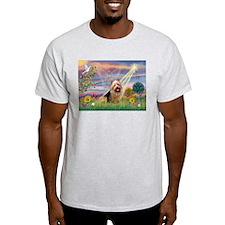 Clous Angel Aussie Terrier Ash Grey T-Shirt