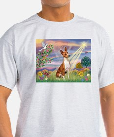 Cloud Angel & Basenji T-Shirt
