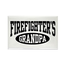 Firefighter's Grandpa Rectangle Magnet