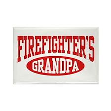 Firefighter's Grandpa Rectangle Magnet