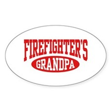 Firefighter's Grandpa Oval Decal