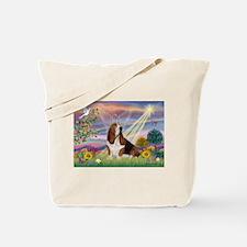 Cloud Angel & Basset Tote Bag