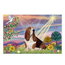 Cloud Angel & Basset Postcards (Package of 8)