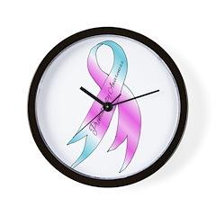 Preemie Ribbon Wall Clock