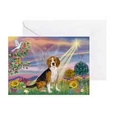 Fantasy Land & Beagle Greeting Cards (Pk of 10)