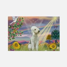 Cloud Angel Bedlington Rectangle Magnet