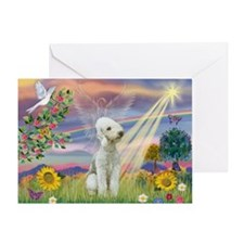 Cloud Angel Bedlington Greeting Card