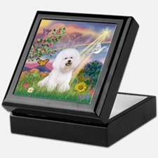 Cloud Angel & Bichon Keepsake Box