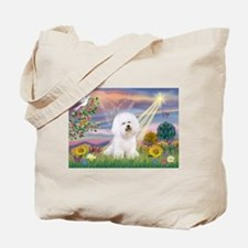 Cloud Angel & Bichon Tote Bag