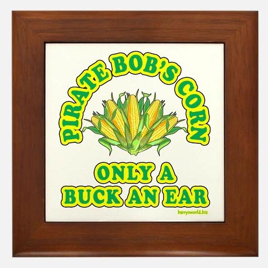 Buck an Ear Framed Tile