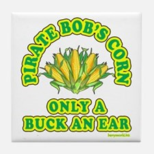 Buck an Ear Tile Coaster