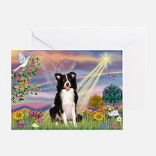 Cloud Angel & Border Collie Greeting Card