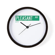 Pleasant Avenue in NY Wall Clock