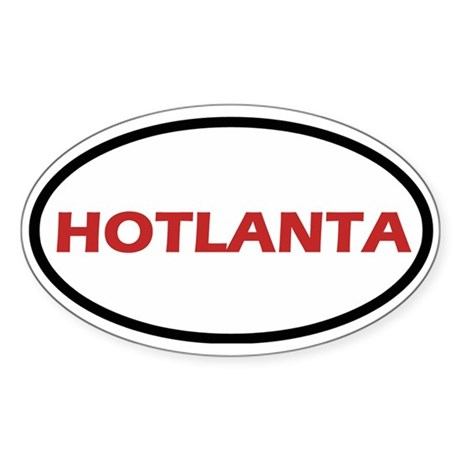 Hotlanta Oval Sticker