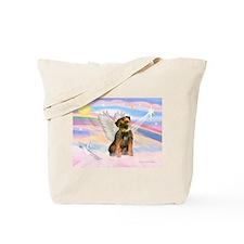 Angel / Border Terrier Tote Bag