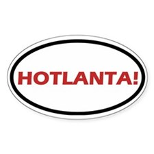 Hotlanta! Oval Decal