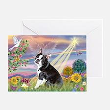 Cloud Angel & Boston T Greeting Card
