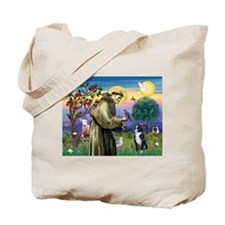 St Francis Boston Terrier Tote Bag