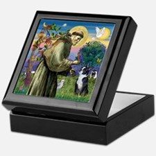 St Francis Boston Terrier Keepsake Box