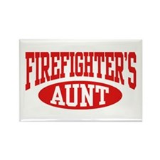 FireFighter's Aunt Rectangle Magnet