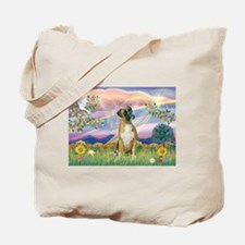Cloud Angel & Boxer Tote Bag