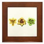 Yellow Daylilies Framed Tile
