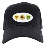 Yellow Daylilies Black Cap