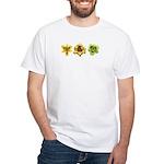 Yellow Daylilies White T-Shirt