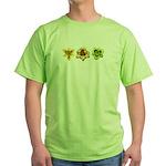 Yellow Daylilies Green T-Shirt