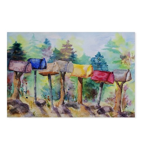 Country Mailboxes Postcards (Package of 8)