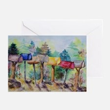 Country Mailboxes Birthday Cards (Pk of 20)