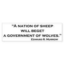 Nation of Sheep Bumper Bumper Bumper Sticker