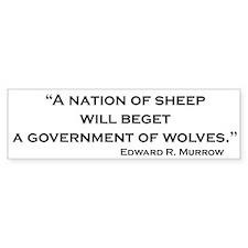 Nation of Sheep Bumper Car Sticker