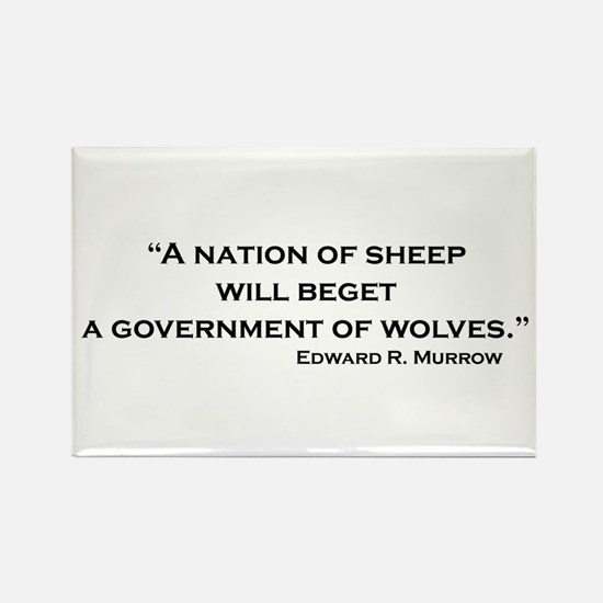 Nation of Sheep Rectangle Magnet