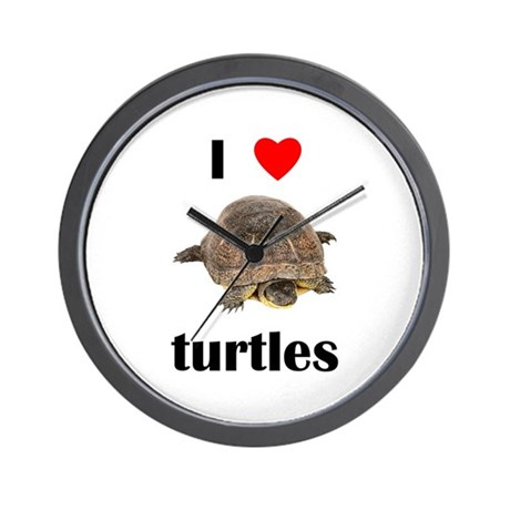 I love turtles Wall Clock