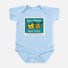 Save Lives Spay & Neuter Infant Bodysuit
