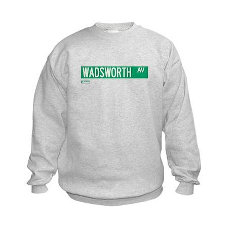 Wadsworth Avenue in NY Kids Sweatshirt