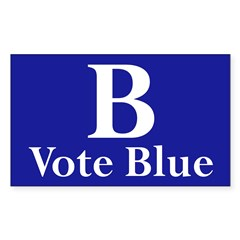 B: Vote Blue (bumper sticker)